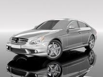Zilverachtige zaken-Klasse Auto Royalty-vrije Stock Afbeelding