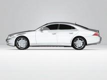 Zilverachtige zaken-Klasse Auto Stock Fotografie