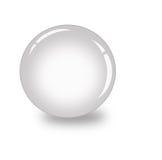 Zilveren 3d bal op witte achtergrond Stock Afbeelding