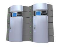 Zilveren 3d Server Stock Fotografie