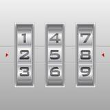 Zilveren aantalcombinatieslot Royalty-vrije Stock Afbeelding