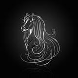 Zilveren abstract paard royalty-vrije illustratie
