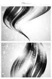 Zilveren abstracte malplaatjes als achtergrond Stock Afbeeldingen