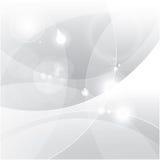 Zilveren abstracte vectorachtergrond Stock Foto
