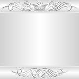 Zilveren achtergrond Stock Afbeeldingen