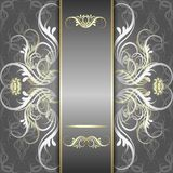 Zilveren achtergrond met elegant patroon Royalty-vrije Stock Afbeeldingen