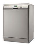 Zilveren afwasmachine Stock Afbeeldingen