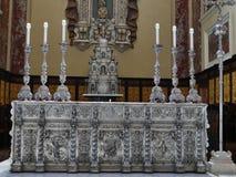 Zilveren altaarkoepel Cagliari royalty-vrije stock foto's