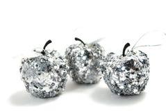 Zilveren appelen Stock Foto's
