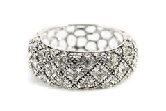 Zilveren armband Royalty-vrije Stock Foto's