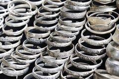 Zilveren armband stock fotografie