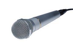 Zilveren audiomicrofoon Stock Afbeeldingen