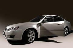 Zilveren auto Stock Fotografie