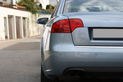 Zilveren auto Royalty-vrije Stock Foto