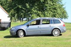 Zilveren auto Stock Afbeeldingen