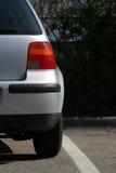 Zilveren auto stock afbeelding