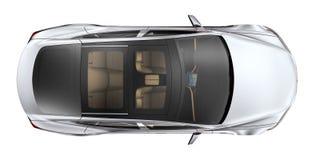 Zilveren auto - hoogste mening stock illustratie