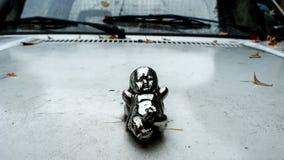 Zilveren baby, autodecoratie Royalty-vrije Stock Foto