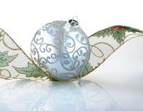Zilveren bal Royalty-vrije Stock Afbeelding
