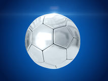 Zilveren bal het 3d teruggeven Stock Afbeeldingen