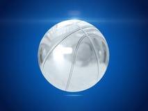 Zilveren bal het 3d teruggeven Stock Fotografie