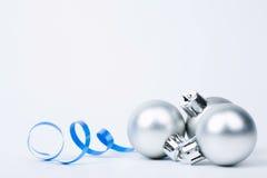 Zilveren ballen Royalty-vrije Stock Afbeelding
