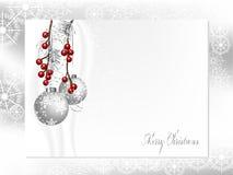 Zilveren ballen Royalty-vrije Stock Afbeeldingen