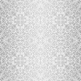 Zilveren barok helder patroon Stock Foto's