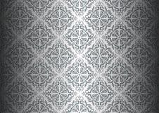 Zilveren behang Stock Foto