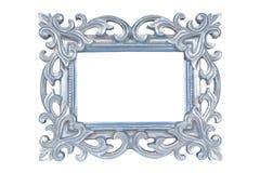 Zilveren blauw gesneden omlijsting Royalty-vrije Stock Afbeeldingen