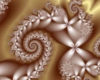 Zilveren Bloemen Royalty-vrije Illustratie