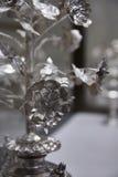 Zilveren Bloemen Stock Foto's