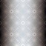 Zilveren bloemen spiraalvormige achtergrond Royalty-vrije Stock Foto