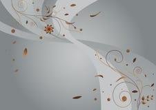 Zilveren bloemenachtergrond Stock Afbeelding