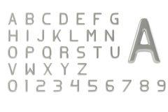 Zilveren brieven Stock Fotografie