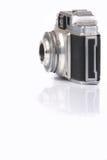 Zilveren camera Stock Afbeelding