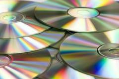 Zilveren cd's stock foto's