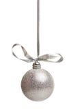 Zilveren chistmasdecoratie Stock Foto