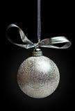 Zilveren chistmasdecoratie Royalty-vrije Stock Afbeelding