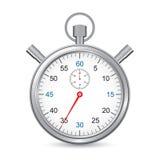 Zilveren chronometer Royalty-vrije Stock Fotografie