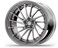 Zilveren chroom automobielwiel of Chrome-Rand royalty-vrije illustratie