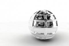 Zilveren chroombal Royalty-vrije Stock Foto