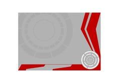 Zilveren cirkel stock illustratie