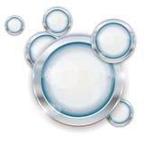 Zilveren cirkelframes vector illustratie