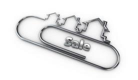 Zilveren 3d modern ontwerpembleem met de illustratie van het verkoopwoord Stock Afbeeldingen
