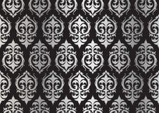 Zilveren damastpatroon Stock Afbeeldingen