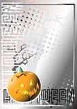 Zilveren de afficheachtergrond 2 van Halloween Stock Afbeeldingen