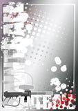 Zilveren de afficheachtergrond 3 van Paintball vector illustratie