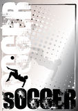 Zilveren de afficheachtergrond 4 van het voetbal Royalty-vrije Stock Afbeeldingen