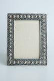 Zilveren antiek kader Royalty-vrije Stock Foto